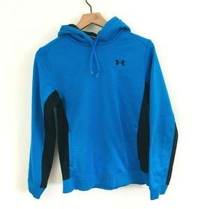 Under Armour Blue Black Hoodie Sweatshirt